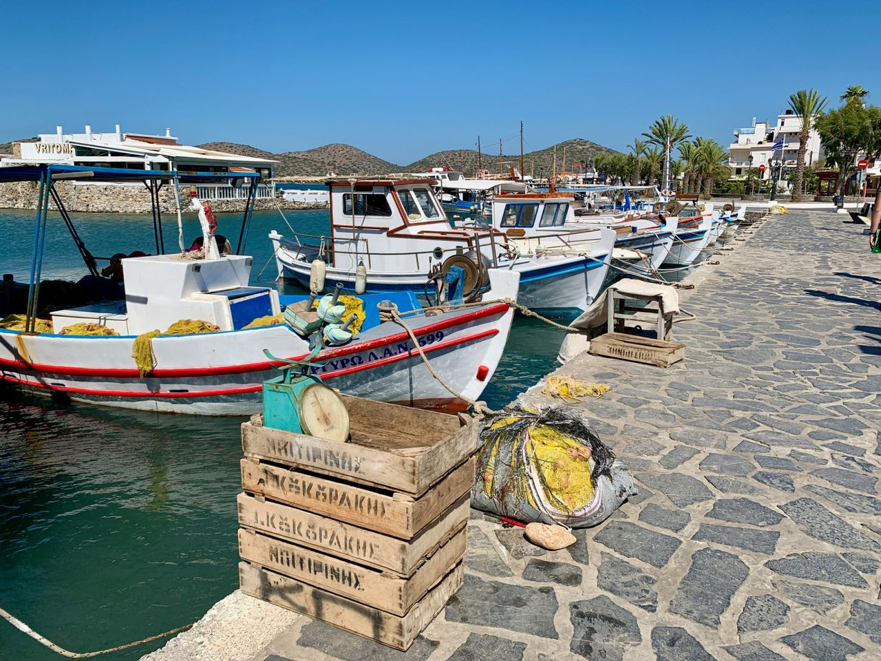 The fisher boats of Elounda after they did their job.