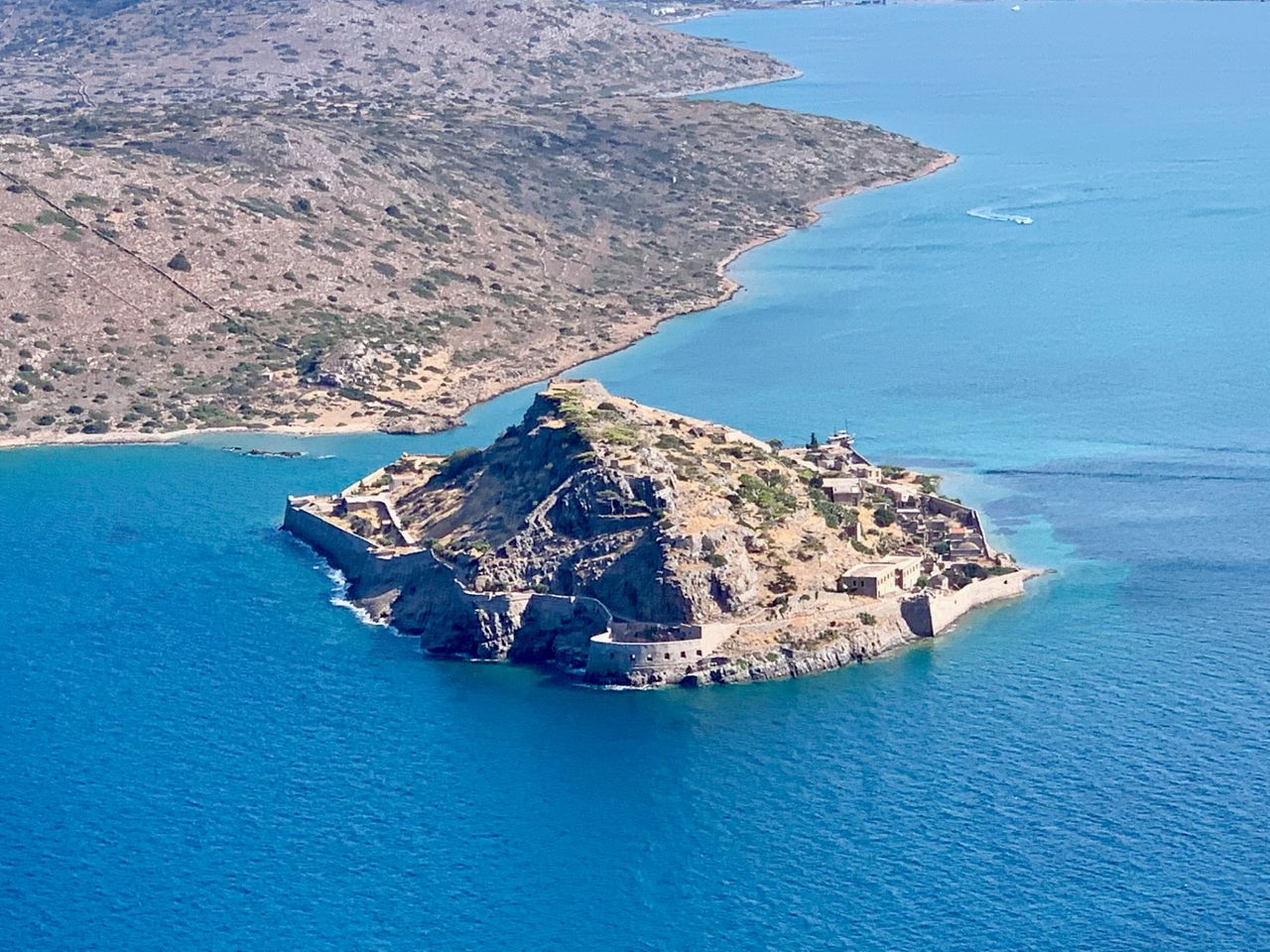 A view from above to Spinalonga