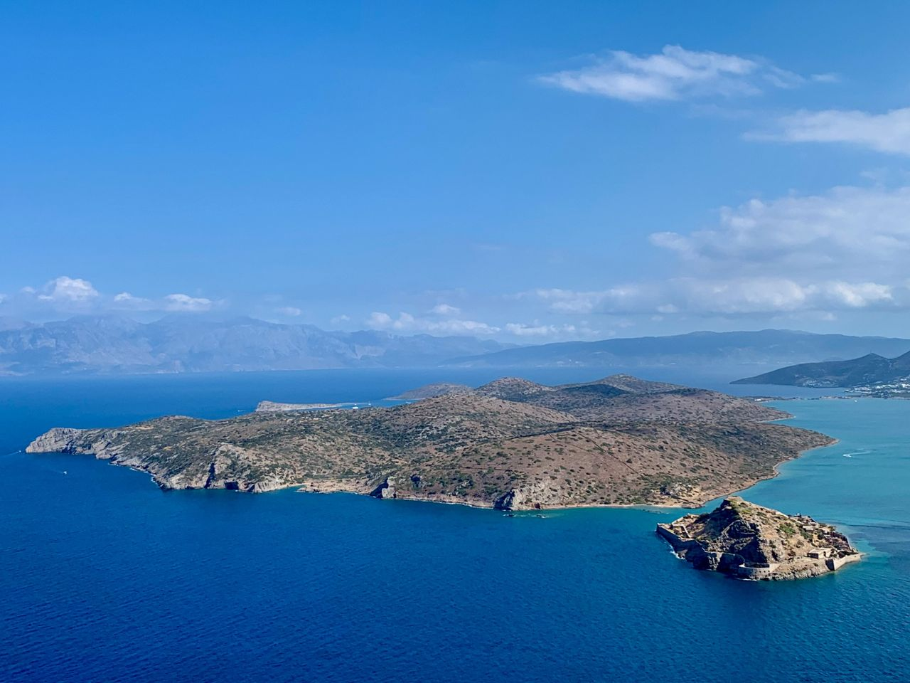Spinalonga and Kolokytha from above