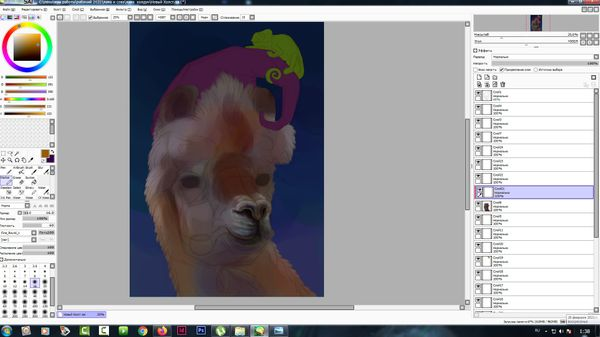 Finally it was time to paint the llama)