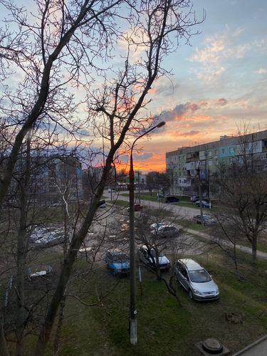 Beautiful sunset. I love this wonderful natural phenomenon. Romantic.