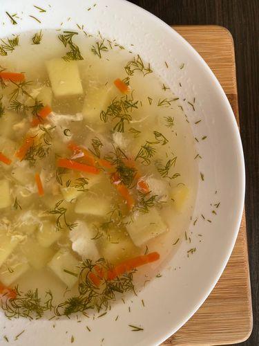 Light soup. Very tasty.