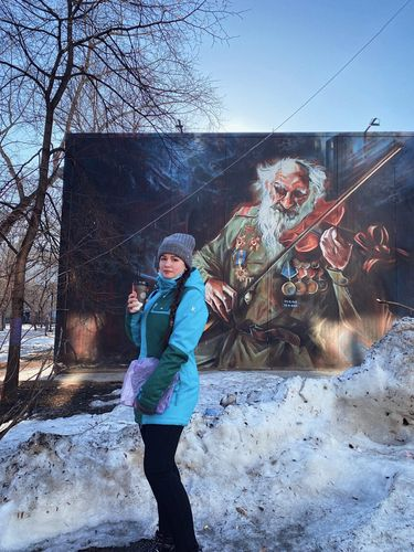 Graffiti in Novosibirsk.