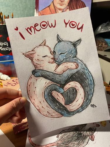 Cute art with cats.