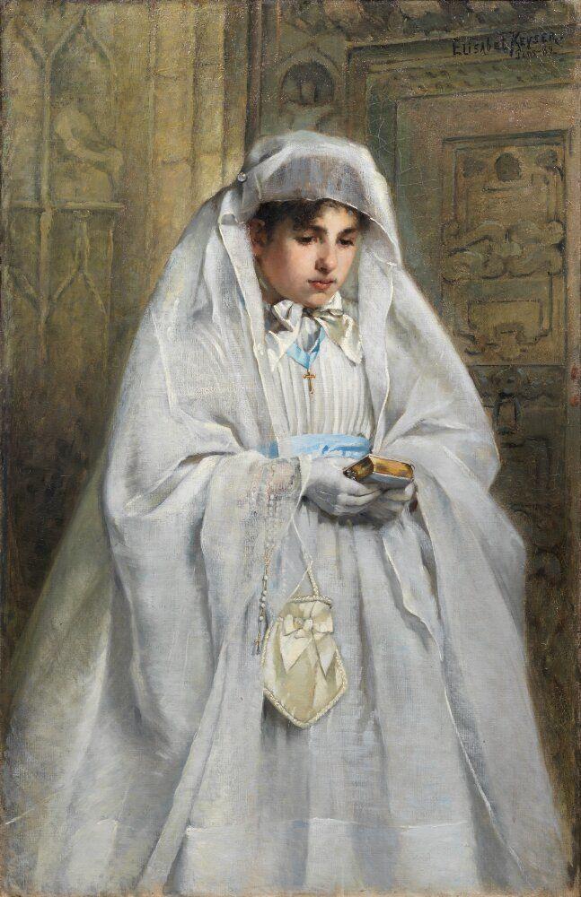 confirmand Elisabeth Keyser Normandy 1889 National museum public.jpg