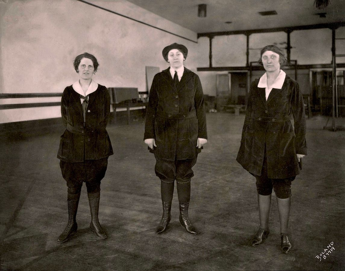 Walking clothes Three_Women_in_Walking_Habits_Marvin_D_Boland_Collection_1923 copyright free.jpg