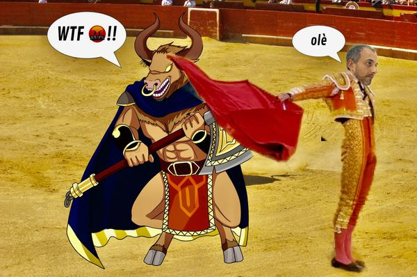 OLE'  Torero (ENG/ITA) SHARE YOUR BATTLE Weekly Challenge! MINOTAUR WARRIOR
