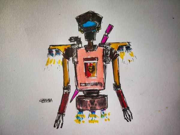 I just made my a Robotic character from imagination