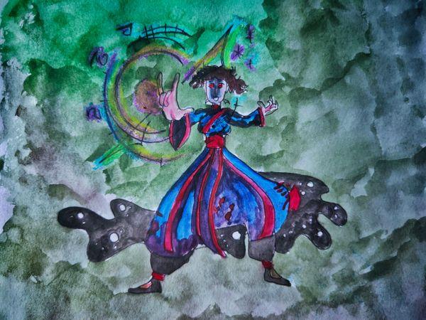 Splinterlands monster art contest| Entry post | DARK ASTRONOMER