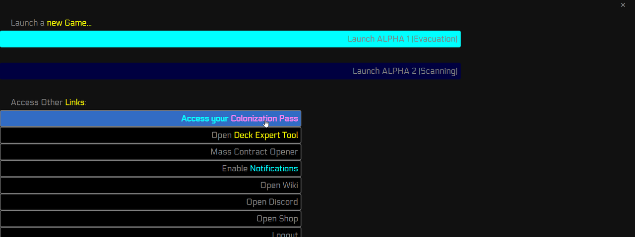 Your Colonization Portal is always a good place!