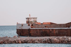 An old rusty Ship, Crete, Greece