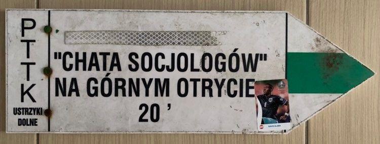 """Tabliczka Szlakowa """"Chata Socjologów"""""""