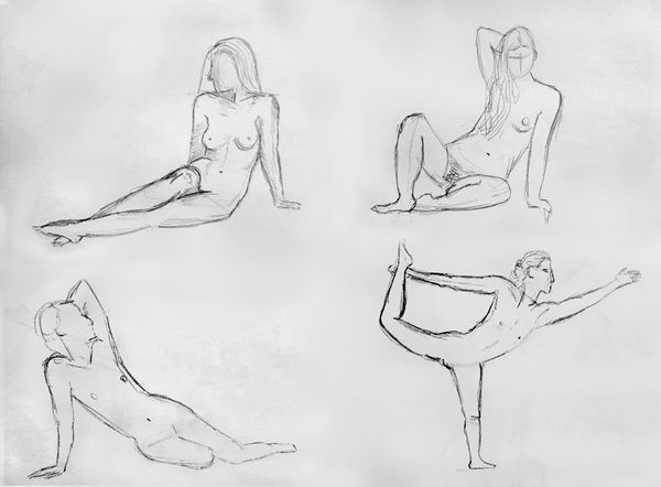 Let's learn drawing anatomy with me! / Intro + sketches.