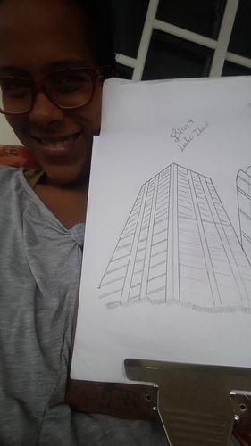 ESP-ENG Desafio Dibujo Diario / Daily Drawing Challenge: Día 4 / Día 4 Edificios (Building)