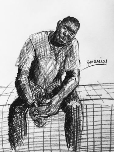 Study Sketch - Male Figure.