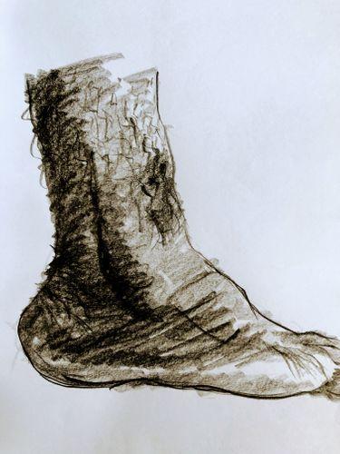 Study Sketch - (Human Leg 2).