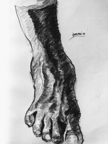 Study Sketch - (Human Leg 1).
