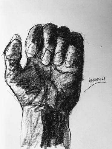 Study Sketch - (Human Hand 4).