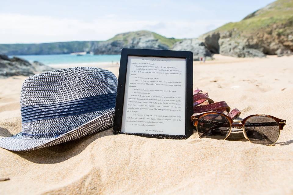 Kindle On beach