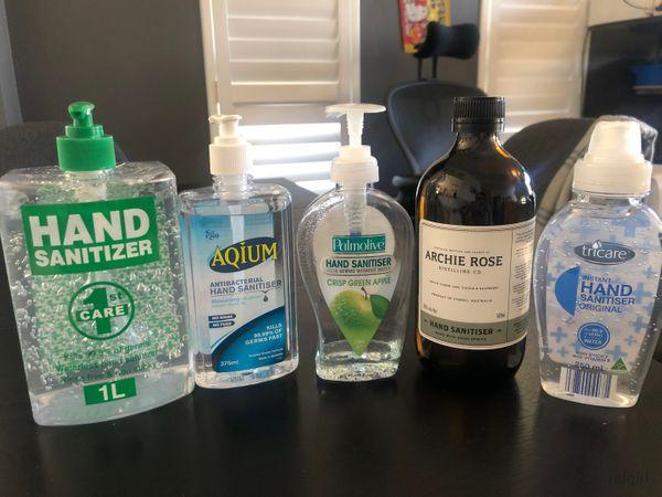 A Comparison Of Hand Santizers | 消毒搓手液一些對比
