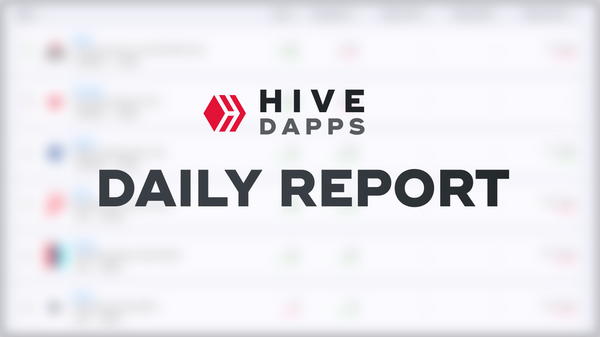 Daily HiveDapps.com Report - Sunday, 9th August 2020