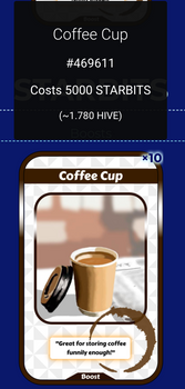 Coffee Cup on NFTMart in STARBITS