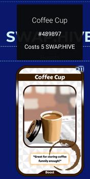Coffee Cup on NFTMart in Swap.Hive