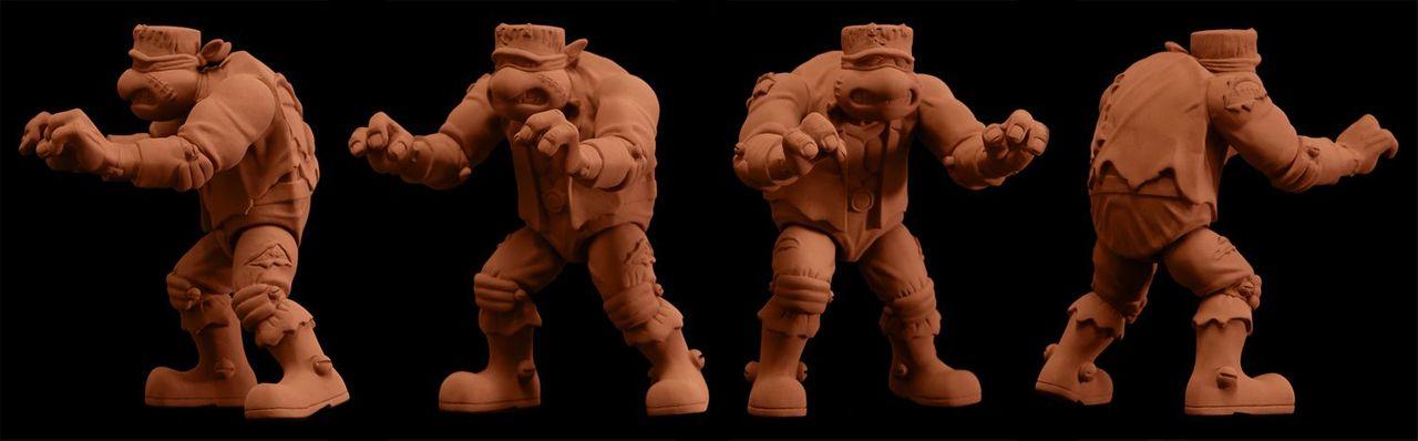 Frankenstein TMNT sculpt turnaround