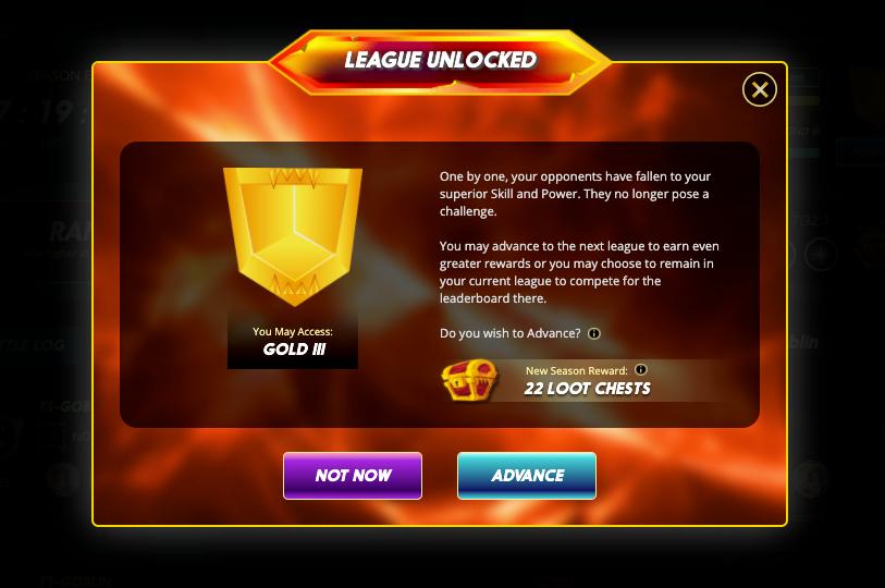 Gold III League Unlocked