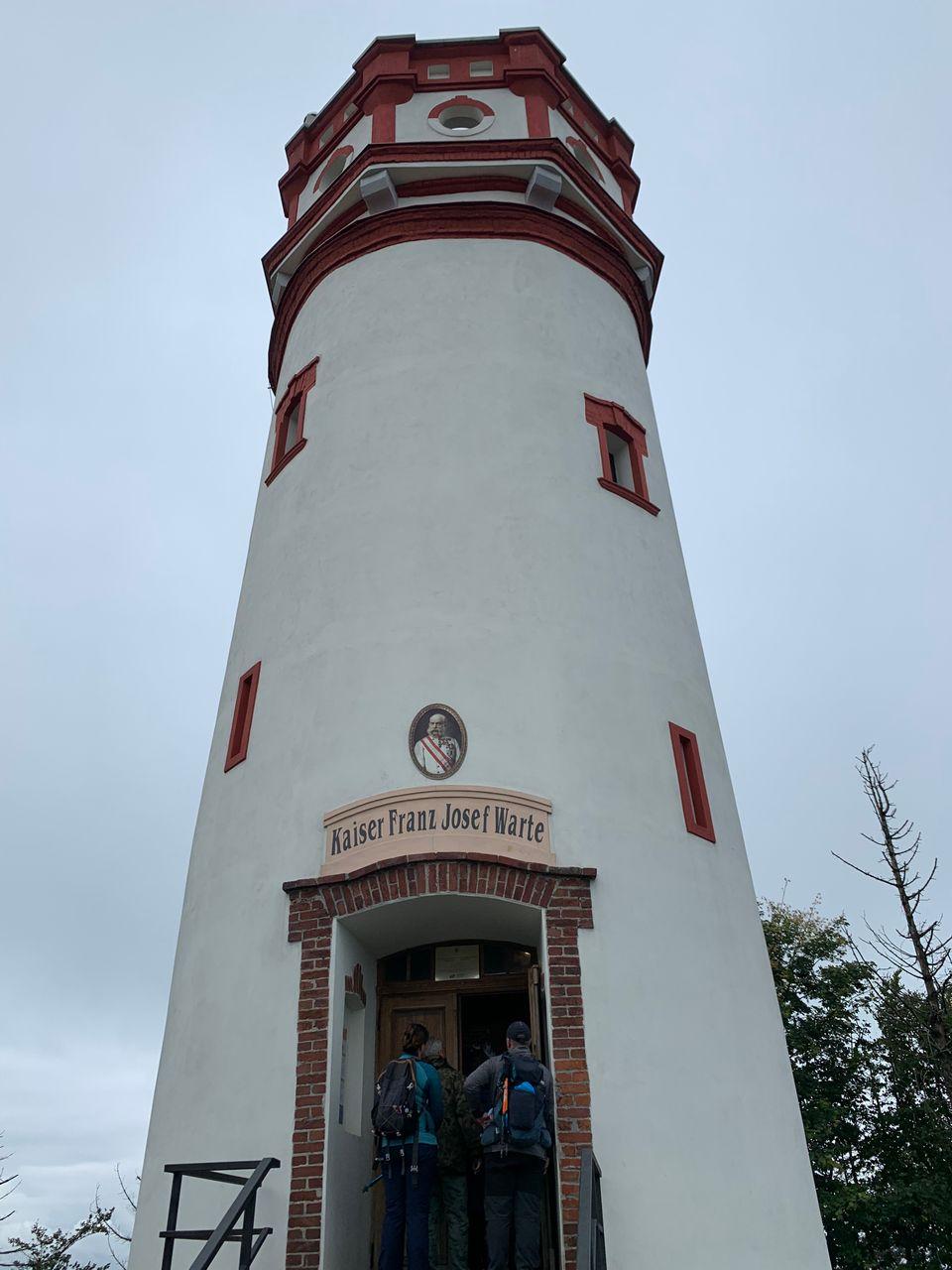 Franz Josef watch tower at Mt Biskupska Kupa (Poland / Czechia ),
