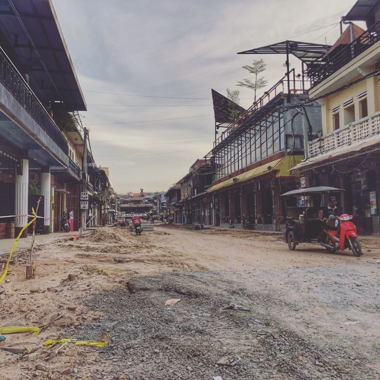Home to so many nightclubs, it's currently a ghost town in Siem Reap