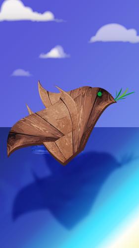Drawing Wooden Bird