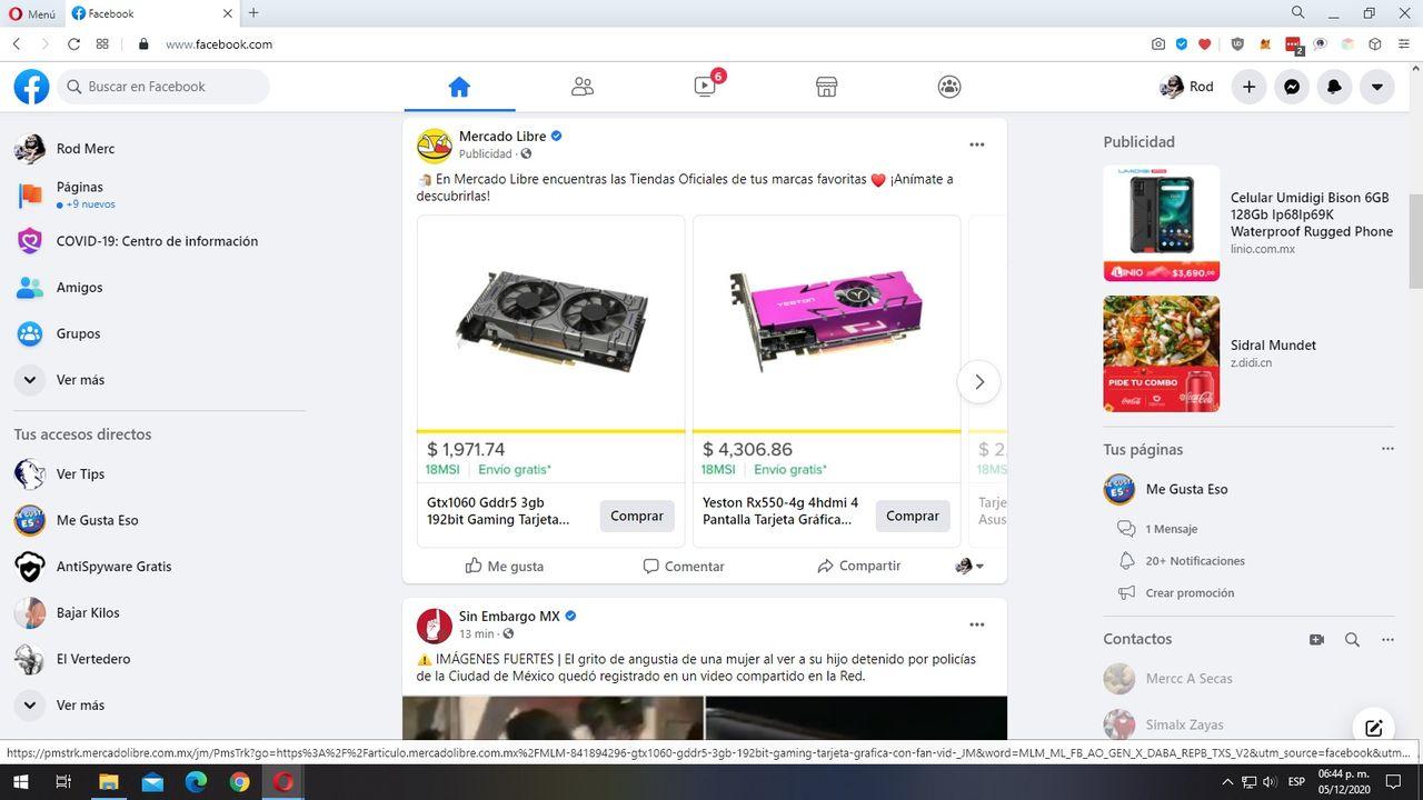 Mercadolibre vende y promociona en anuncios tarjetas de video falsas