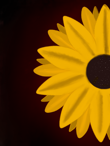 Sunflower in frame silhouette art