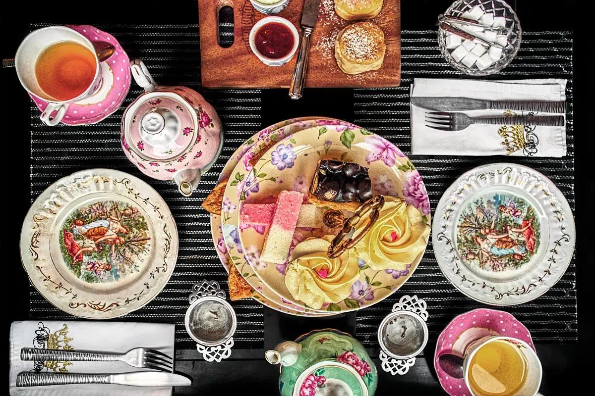Afternoon tea set at Villa Royale Tea Room in Saigon.