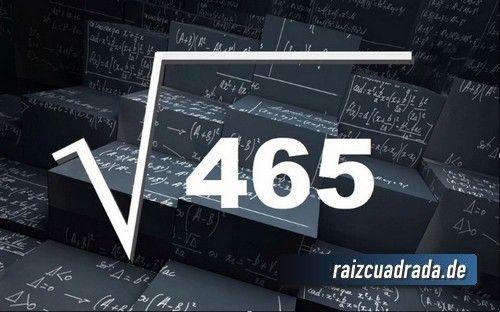 Source - https://raizcuadrada.de/465-cuatrocientos-sesenta-y-cinco/