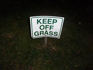 Keep Off Grass Sign