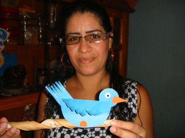 Lindo  Pájaro azul elaborado con cartulina - Cute blue bird made with cardboard - (ENG // ESP)