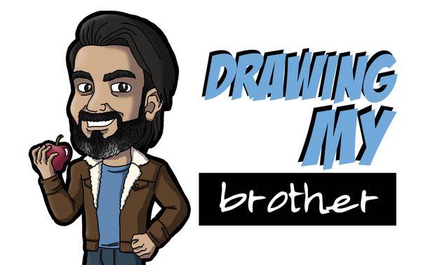 [ENG|ESP] Drawing My Brother | Dibujando a Mi Hermano.