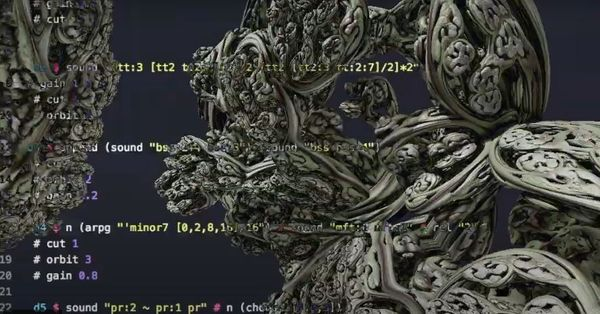 techno experiment done with tidal cycles livecoding With Fractal Visual <3 do you like it?