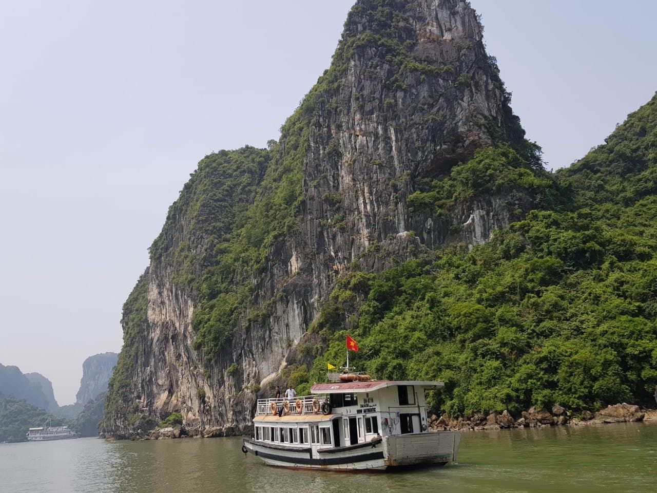 We took a boat trip to Halong Bay, Vietnam