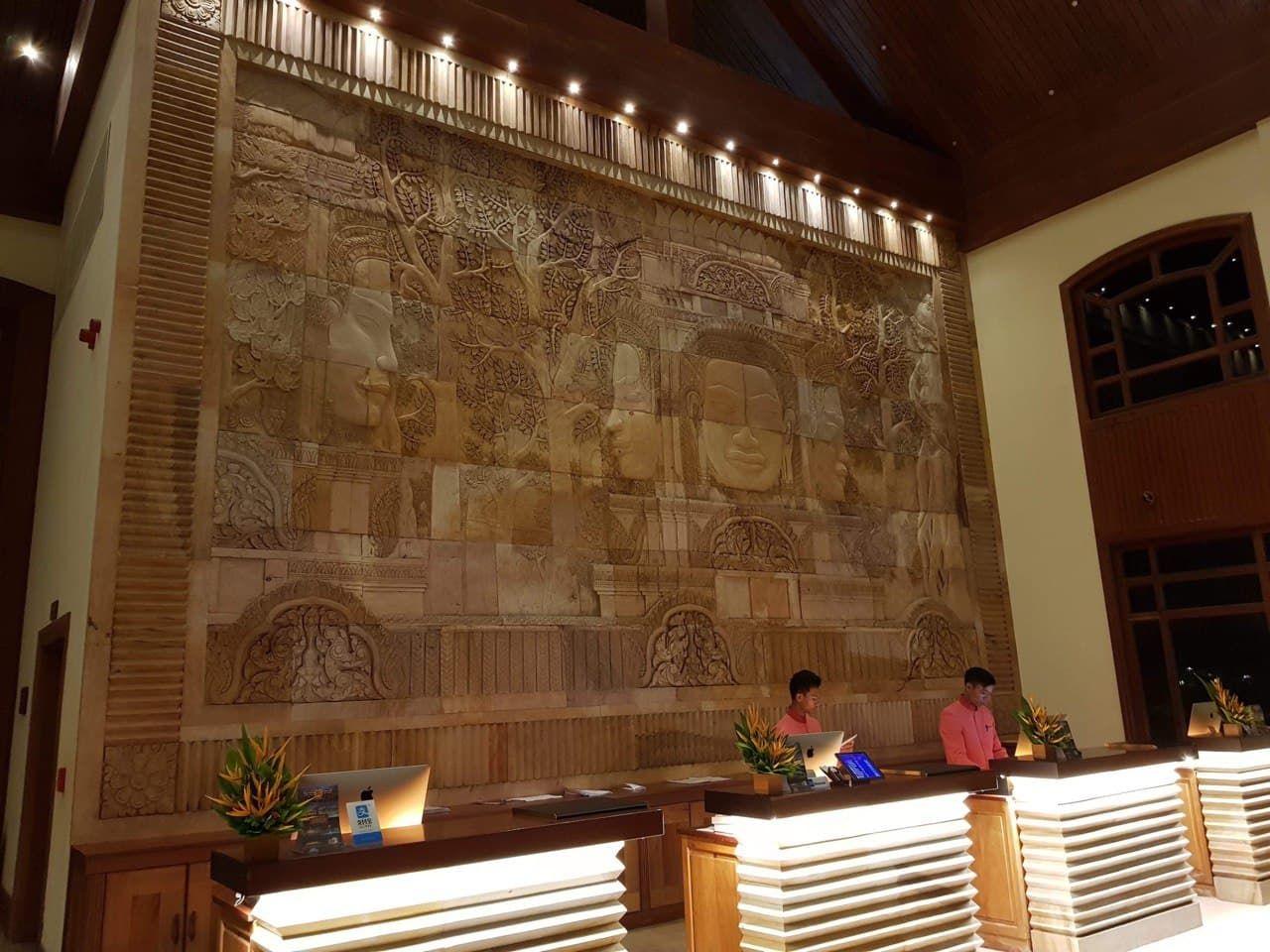 Reception of Sokha Angkor Hotel, Siem Reap, Cambodia
