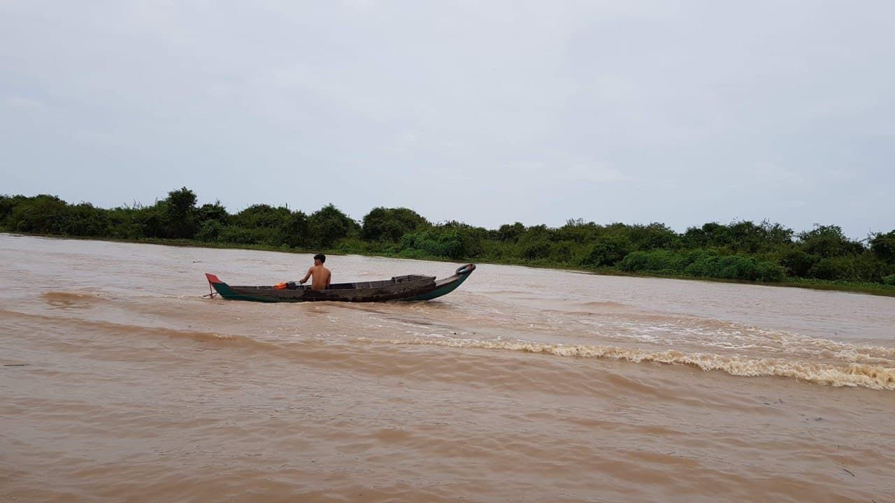 Tonlé Sap Lake, which is located near Angkor Wat