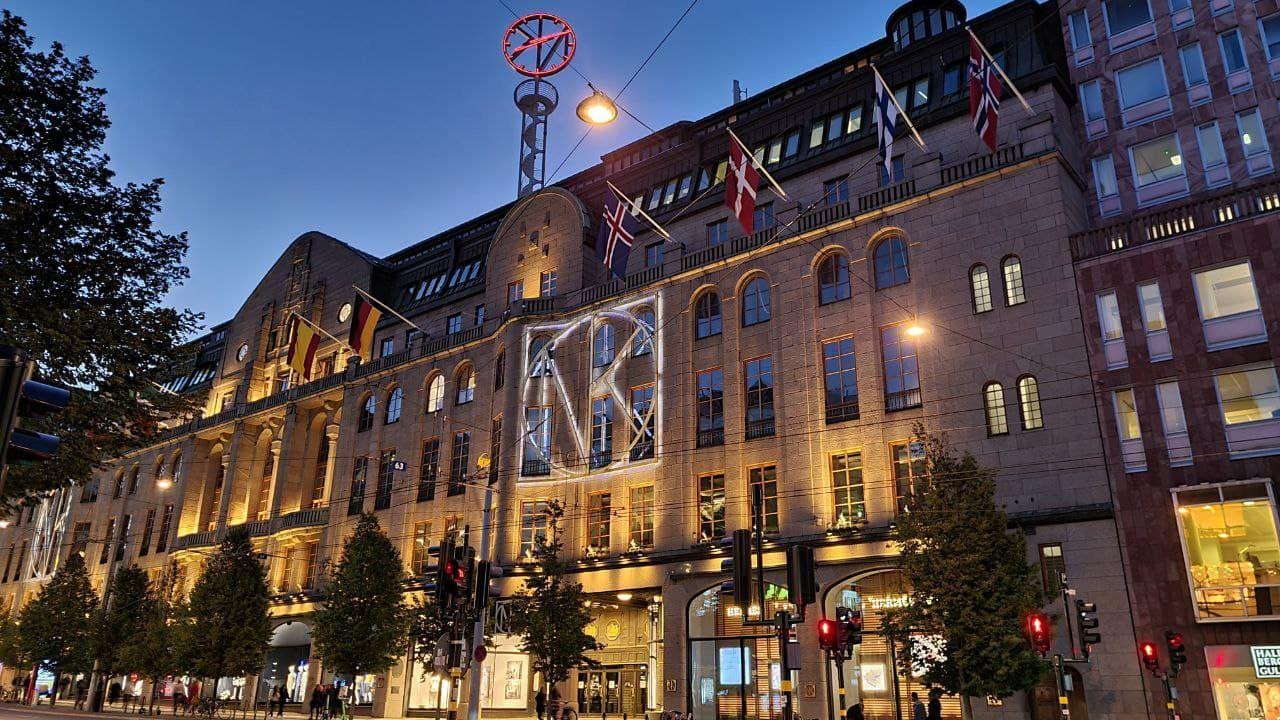 NK, Nordiska Kompaniet, a luxurious Swedish department store.