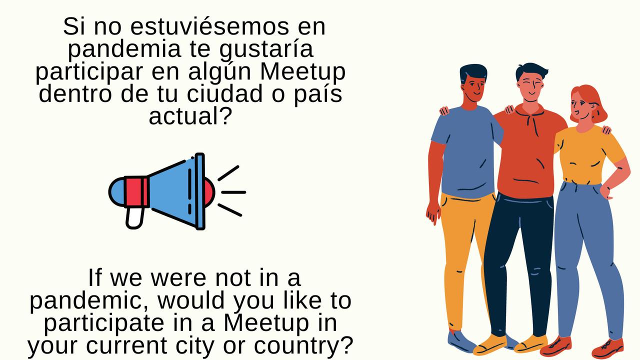 Si no estuviésemos en pandemia te gustaría participar en algún Meetup dentro de tu ciudad o país actual.png