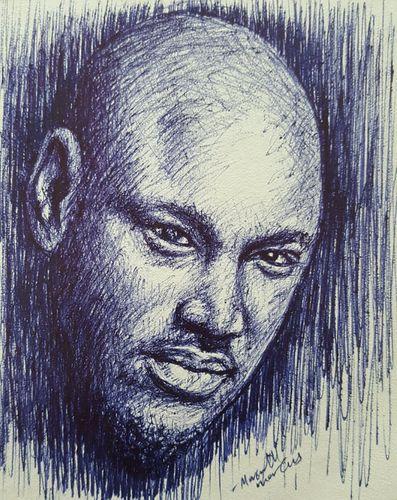 Pen Portrait Drawing