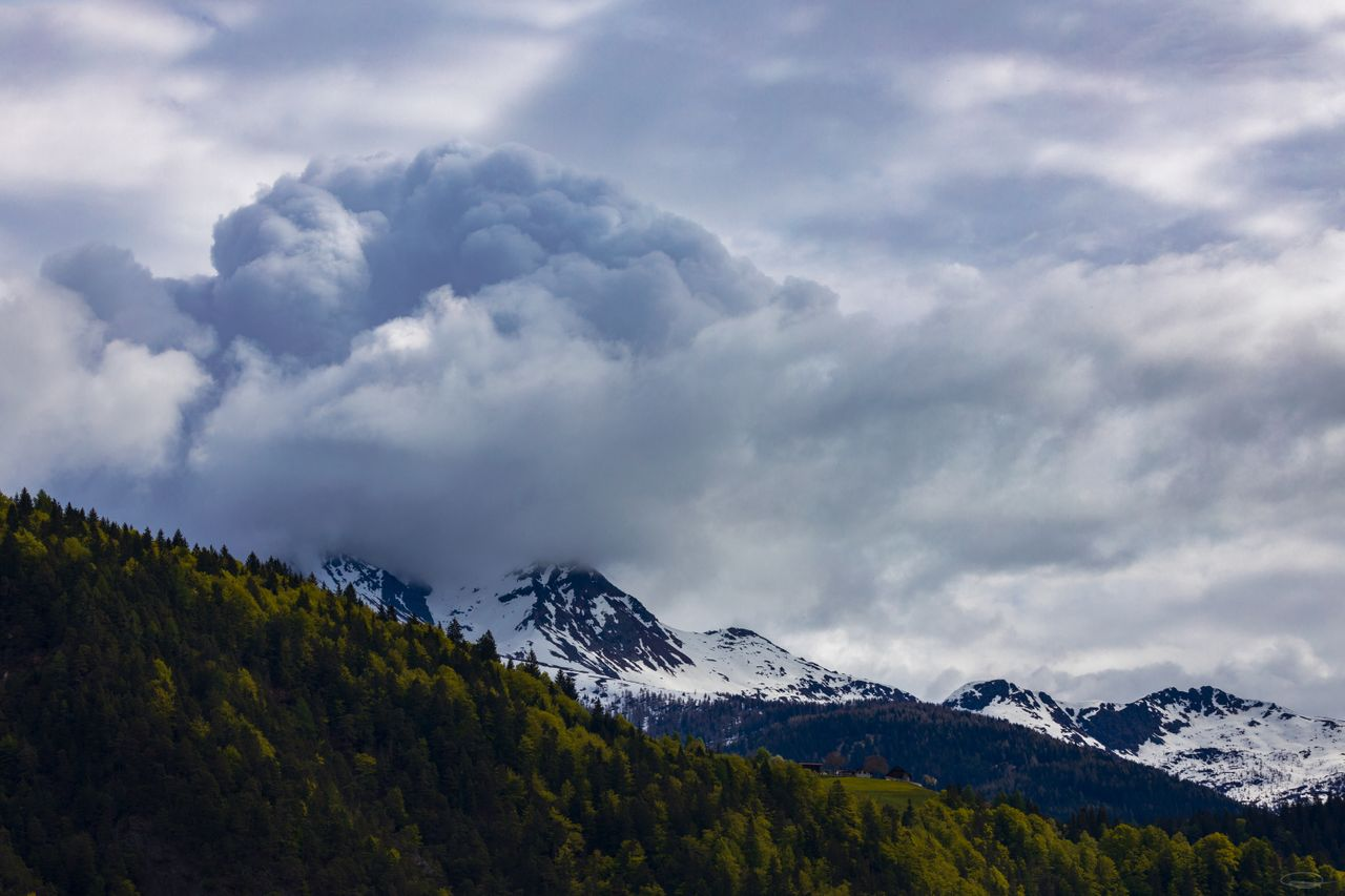 Storm Clouds over the Mountain