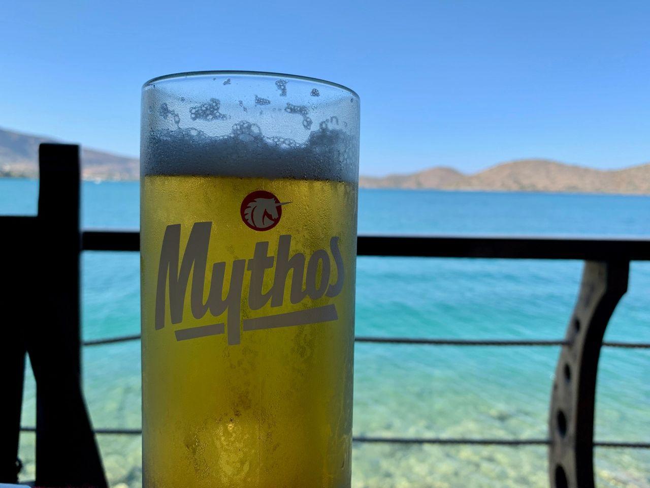 A local Mythos beer