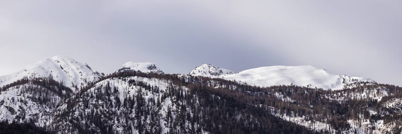 Panorama - Snow caped Mountain Hochstadel (January 2021)