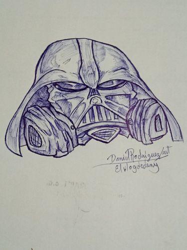 Dibujo el casco de darth vader [spa-Eng]